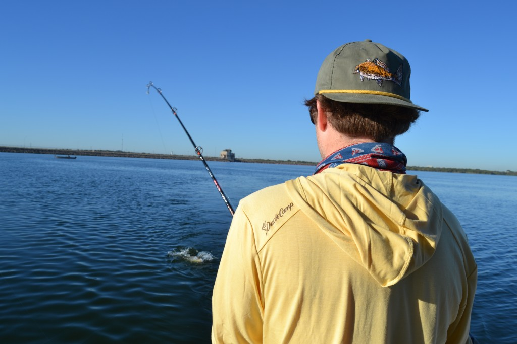 freshwater redfish on calaveras lake