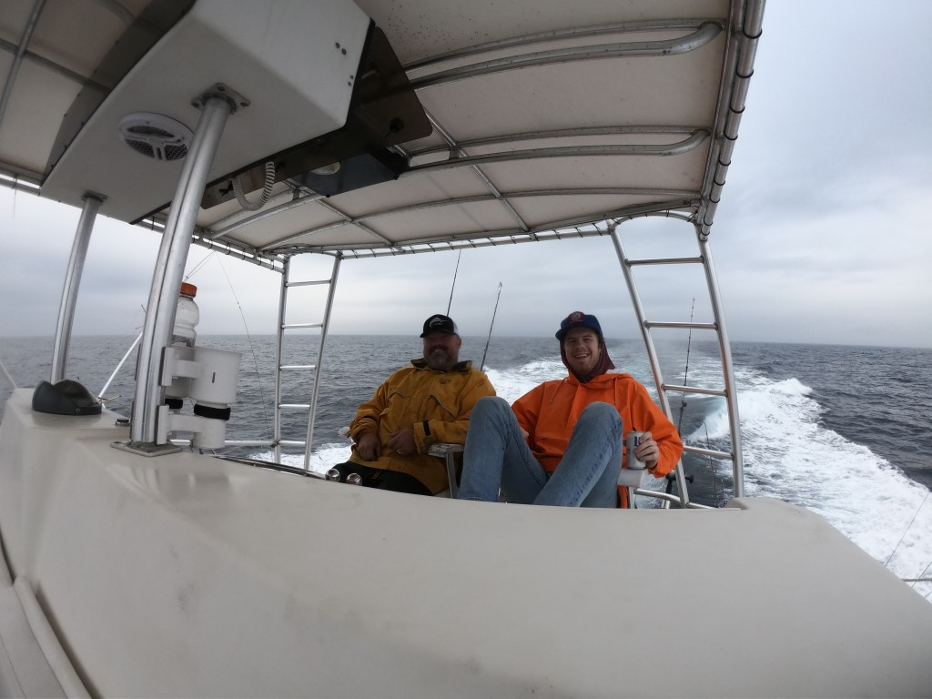 customer and guide on a fishing trip