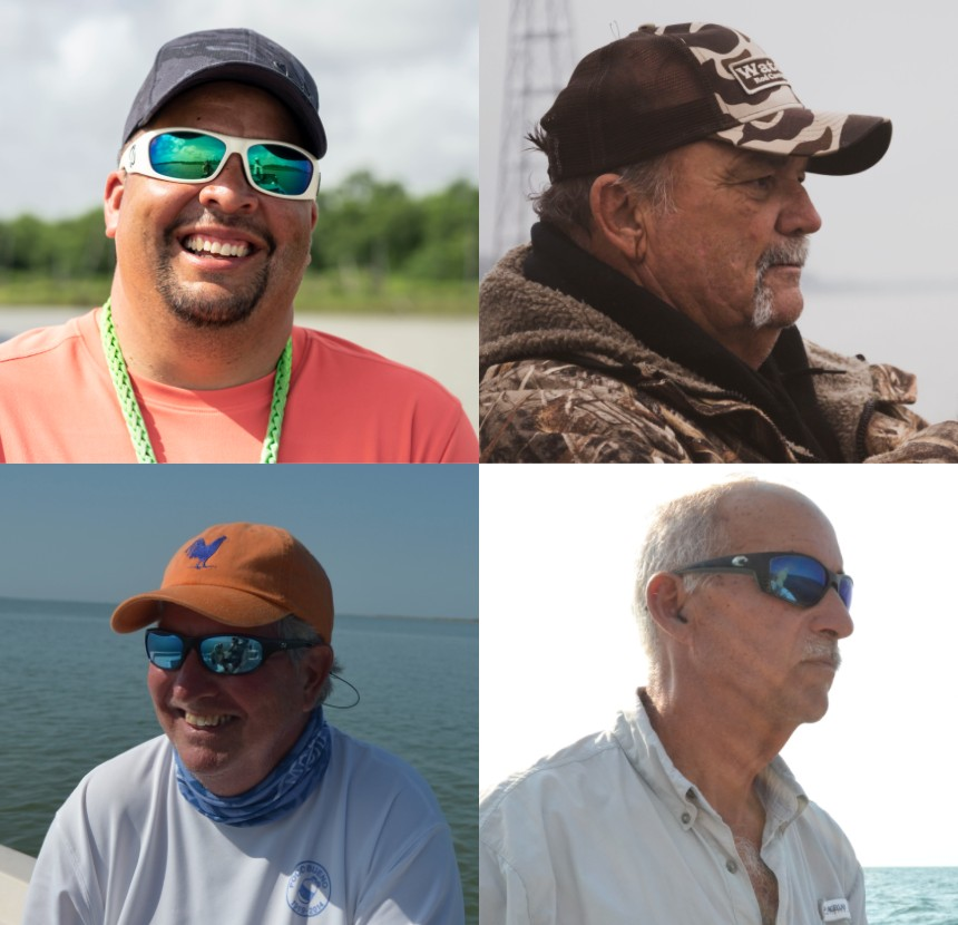 headshots of four captain experiences fishing guides