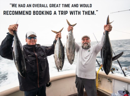 Fishing review of captain experiences tuna offshore trip