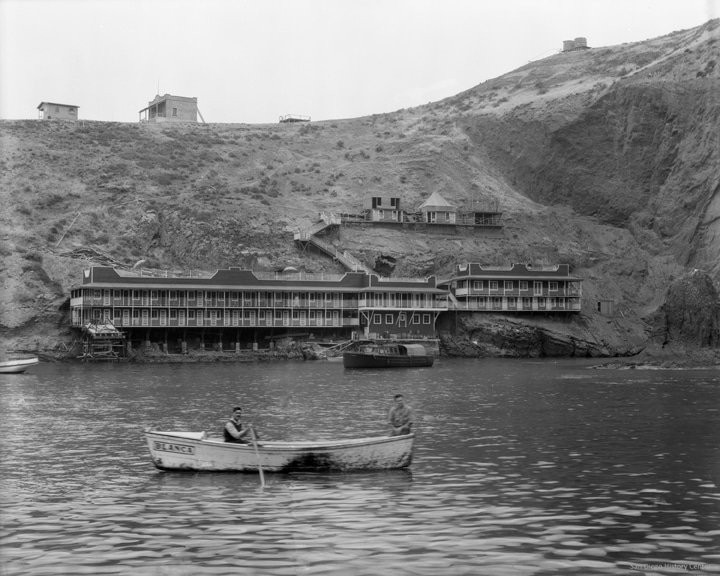 An old picture of the coronado islands yacht club