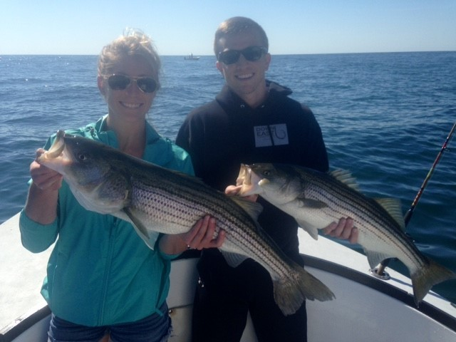 Stripers on a 33' Grady White Canyon | Captain Experiences